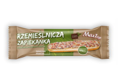 "Craft Baguette with mushrooms, cheese and ham  |  flowpack <font class=""aku-hidden-g"">