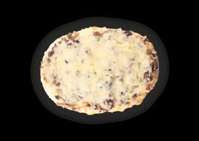 "Mini Pizza with mushrooms and onion <font class=""aku-hidden-g""> | 180/155g · 165/140g · 130/115g</font>"